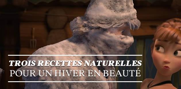 Trois recettes naturelles pour un hiver en beauté