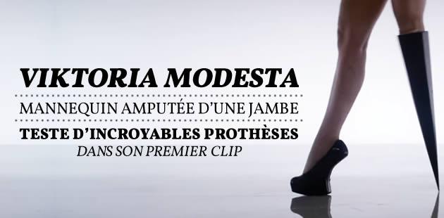 Viktoria Modesta, mannequin amputée d'une jambe, teste d'incroyables prothèses dans son premier clip