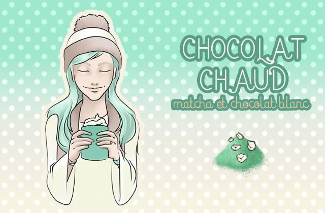 Le chocolat chaud du dimanche : matcha et chocolat blanc
