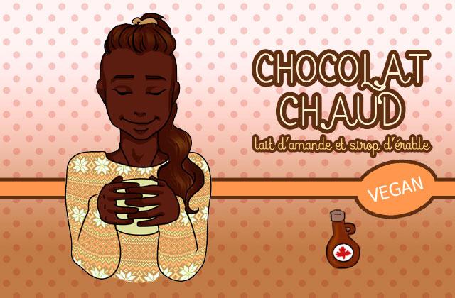 Le chocolat chaud du dimanche : lait d'amande et sirop d'érable