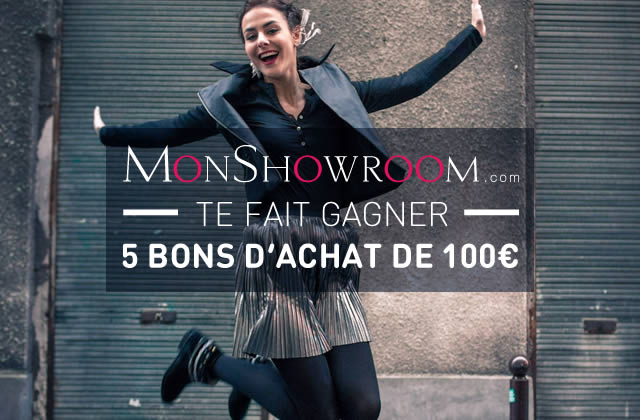 monshowroom te fait gagner 500 de bons d 39 achat. Black Bedroom Furniture Sets. Home Design Ideas