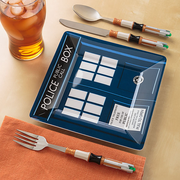 dr who cutlery set
