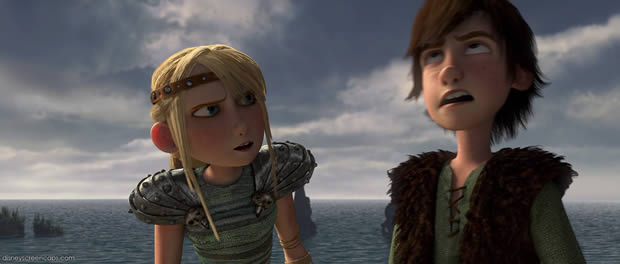 hiccup-astrid-dragons