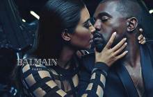 Kanye West et Kim Kardashian, nouvelles égéries Balmain