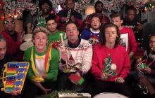 One Direction, the Roots et Jimmy Fallon chantent Noël avec des instruments pour enfants