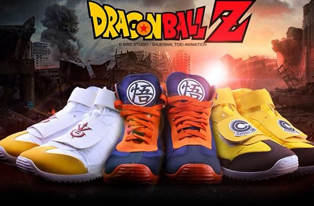 Des baskets aux couleurs de Dragon Ball Z