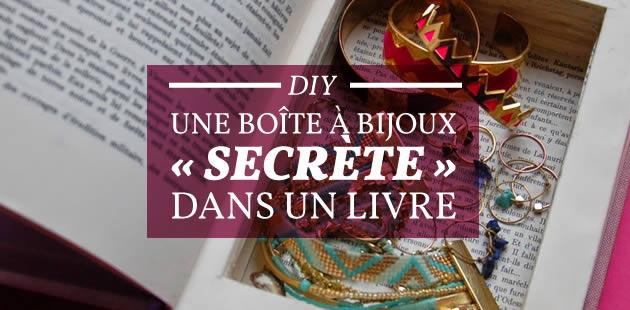 DIY — Une boîte à bijoux «secrète» dans un livre