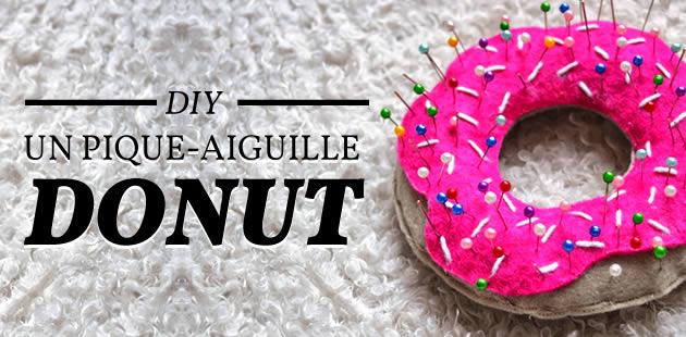DIY — Un pique-aiguilles donut