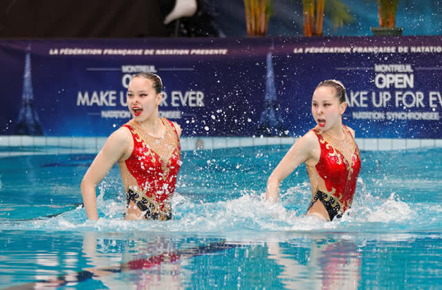 Coiffure pour natation synchronisee