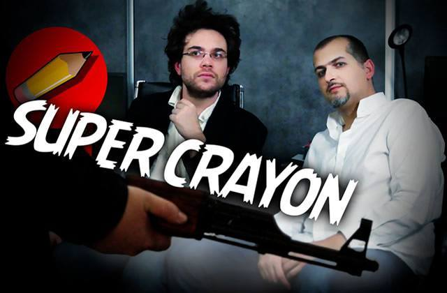 Super-Crayon, l'hommage de Salut les Geeks et des youtubeurs à Charlie Hebdo