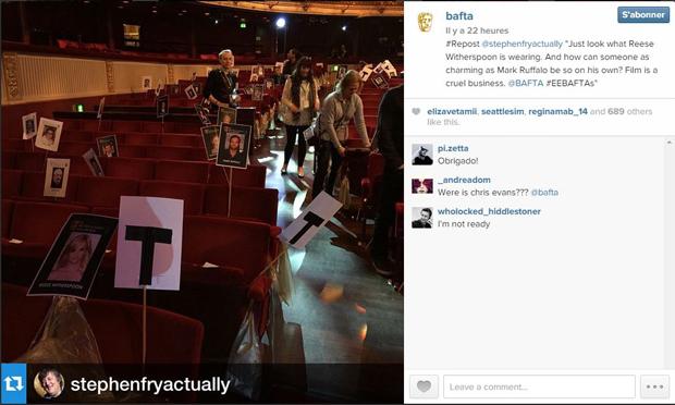 Compte Instagram des BAFTA : https://instagram.com/p/y122kZp3Sa/?modal=true