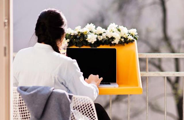 BalKonzept, le bureau mobile à fixer à son balcon