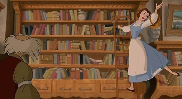 belle échelle bibliothèque