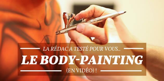 La rédac a testé pour vous… le body-painting (en vidéo) !