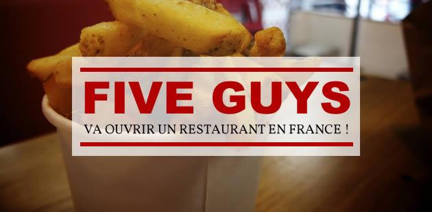 Five Guys va ouvrir un restaurant en France!