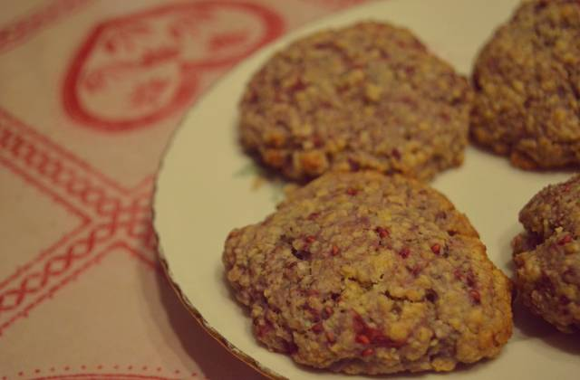 Les cookies framboises/chocolat blanc — Recette pour un moment gourmand