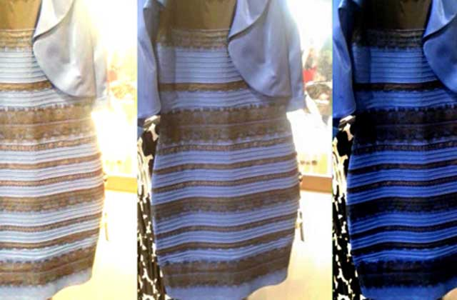 Cette robe est elle bleue ou blanche la question qui - Couleur bleu ou bleue ...