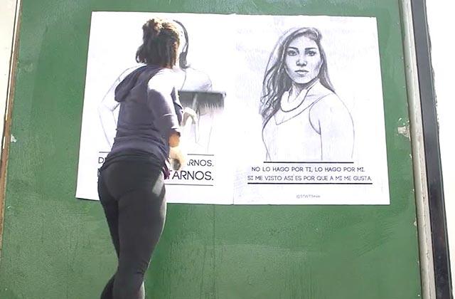 Le harcèlement de rue au Mexique dénoncé par une street-artiste