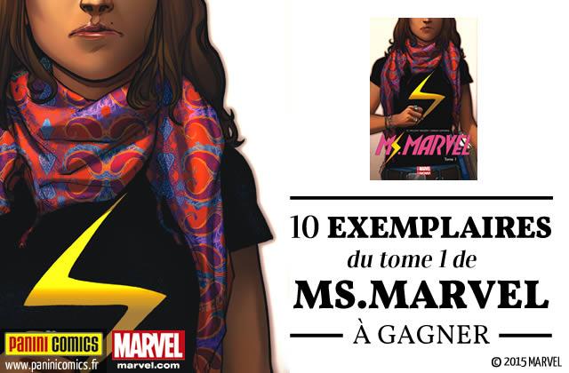La nouvelle Ms Marvel, une super-héroïne qui fait plaisir à voir (+ concours !)