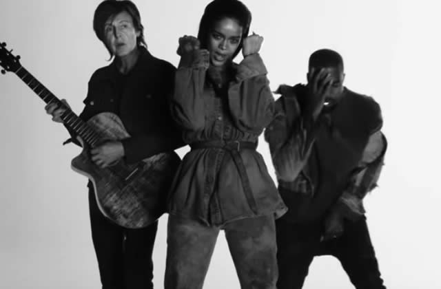 Rihanna dévoile le très beau clip de « FourFiveSeconds », avec Kanye West et Paul McCartney