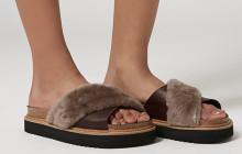 Les sandales d'été à fausse fourrure de Topshop —  WTF Mode