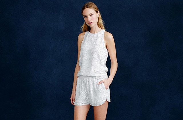 Les shorts et combi-pantalons de mariée de J. Crew, pour changer de la traditionnelle robe blanche !