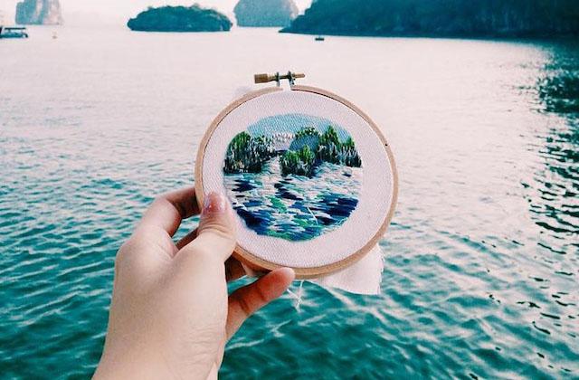 Sew Wanderlust, les broderies de voyages enchanteresses de Teresa Lim