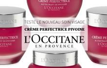 Teste le nouveau soin visage Crème Perfectrice Pivoine de L'Occitane !