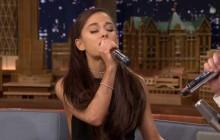 Ariana Grande imite à merveille Céline Dion chez Jimmy Fallon