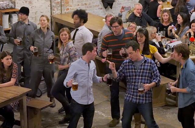 Une comédie musicale surprise… sur la bière