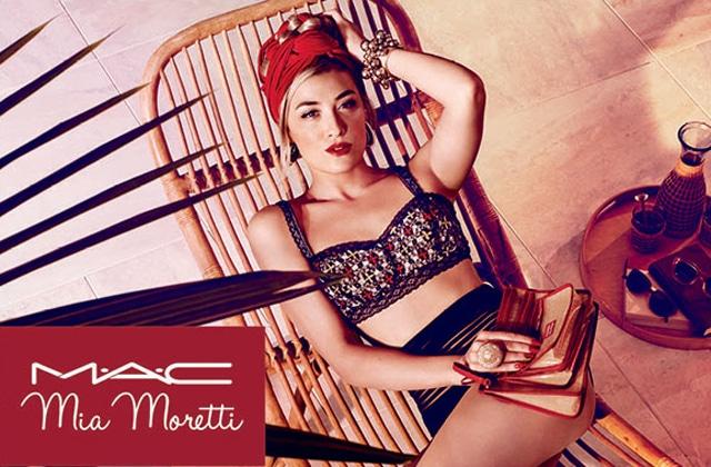 La DJ Mia Moretti signe une collection de maquillage pour MAC