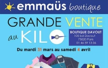 Emmaüs lance aujourd'hui sa grande vente au kilo à Paris !