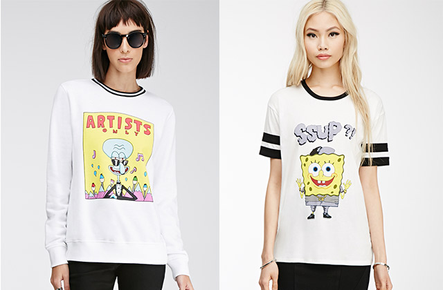 Forever 21 sort sa collection Bob l'Éponge pour le printemps 2015