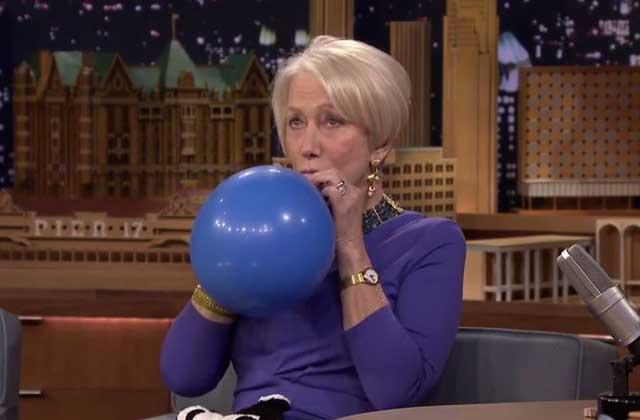 Helen Mirren parle sous hélium sur le plateau de Jimmy Fallon