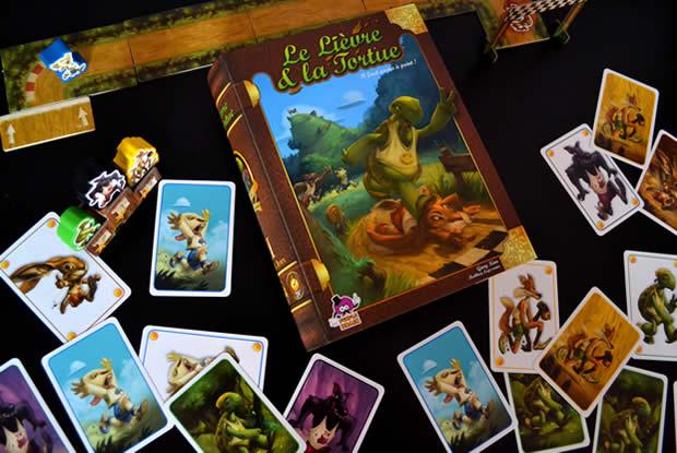 le lièvre et la tortue jeu cartes