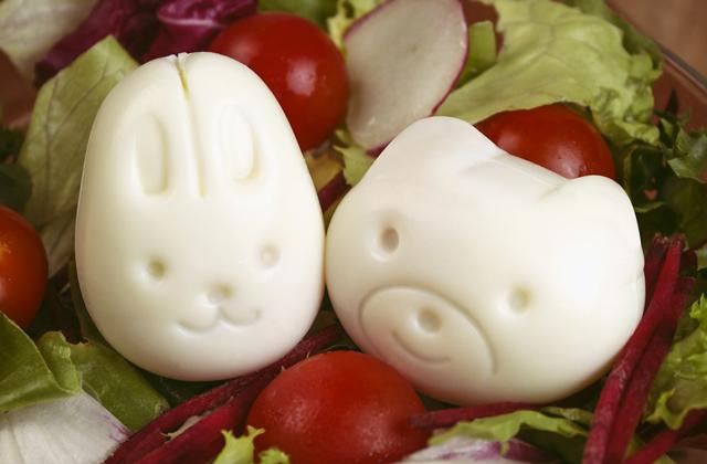 Les moules à œufs mignons, pour des salades super kawaii!