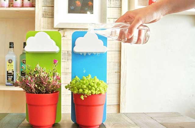 Le Rainy Pot, joli nuage pour arroser ses pots de fleurs