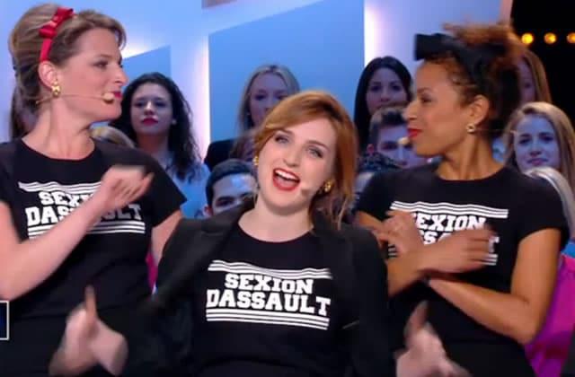 Alison Wheeler monte une «Sexion Dassault» au Grand Journal