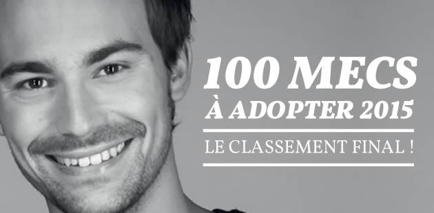 Les 100 mecs à adopter 2015 — Le classement final !