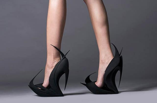 Les chaussures faites en impression 3D par Zaha Hadid, Ben van Berkel et d'autres designers