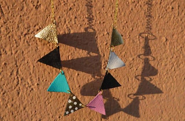 DIY — Un collier fanions en cuir