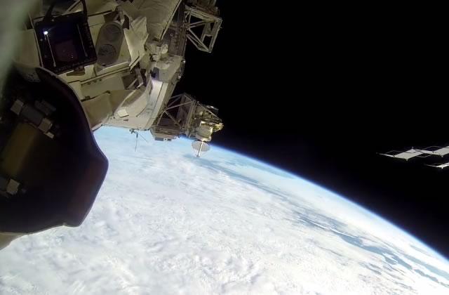L'espace filmé à la GoPro par un astronaute vivant sur l'ISS