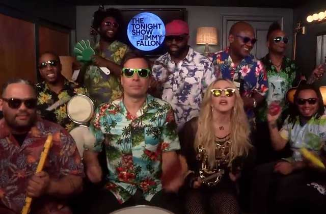 Madonna reprend « Holiday » avec Jimmy Fallon et The Roots !