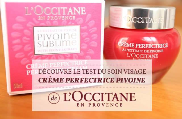 Crème Perfectrice Pivoine de L'Occitane : le test de la rédac' et des madZ !