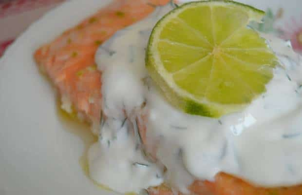 saumon miel citron