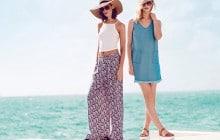 La tendance années 70 en deux looks pour le printemps-été 2015, avec New Look