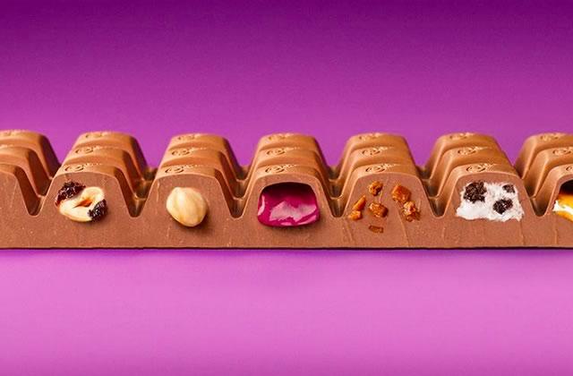 Spectacular 7, la barre de chocolat aux sept parfums de Cadbury