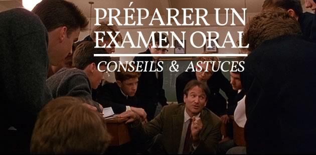 Préparer un examen oral — Conseils & astuces