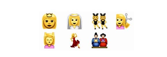 femmes emojis