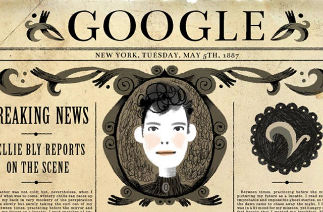 Google Doodle rend hommage à Nellie Bly, pionnière du journalisme